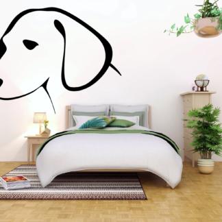 Muursticker van een hond
