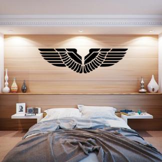 Muursticker van een paar vleugels