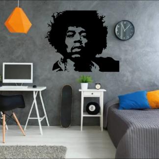 Muursticker van Jimi Hendrix