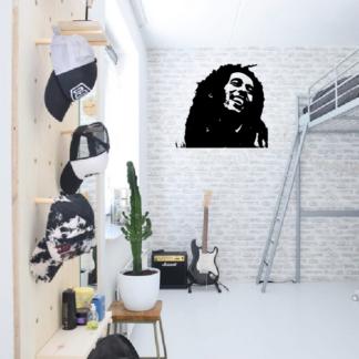 Muursticker van Bob Marley