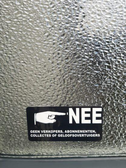 Voorbeeld van de sticker