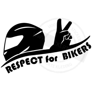 Productvoorbeeld Autosticker Respect for Bikers