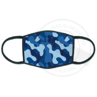 Productafbeelding mondkapje camo blauw
